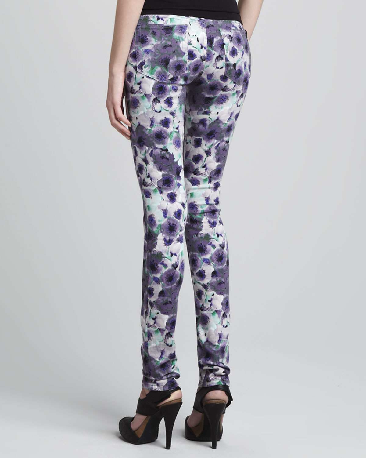 Joe Cotton Ford >> Joe's jeans Floral Print Skinny Jean in Purple (floral) | Lyst