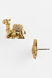 Kate Spade Wild One Camel Stud Earrings - Lyst