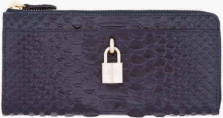Mulberry Ink Blue Scaled Hetty Wallet in Blue (ink) - Lyst