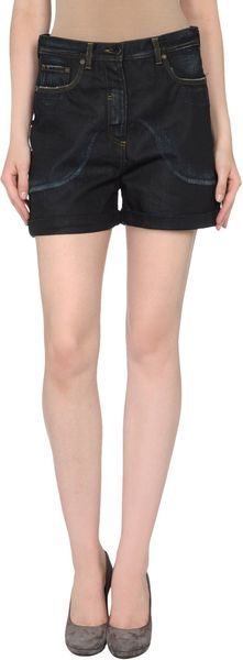 Neil Barrett Denim Shorts - Lyst