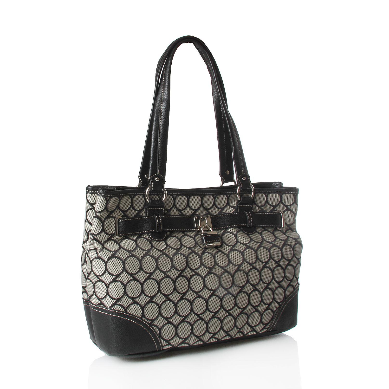 nine west jacquard shop bag in black lyst