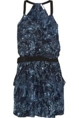 See By Chloé Printed Cotton and Silkblend Dress - Lyst