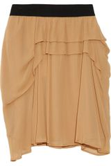 See By Chloé Ruffled Chiffon Skirt in Beige (nude) - Lyst