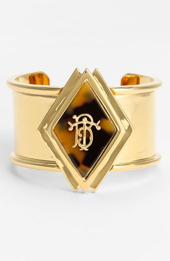 Tory Burch Wide Monogram Cuff - Lyst