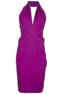 Yves Saint Laurent Halterneck Dress - Lyst