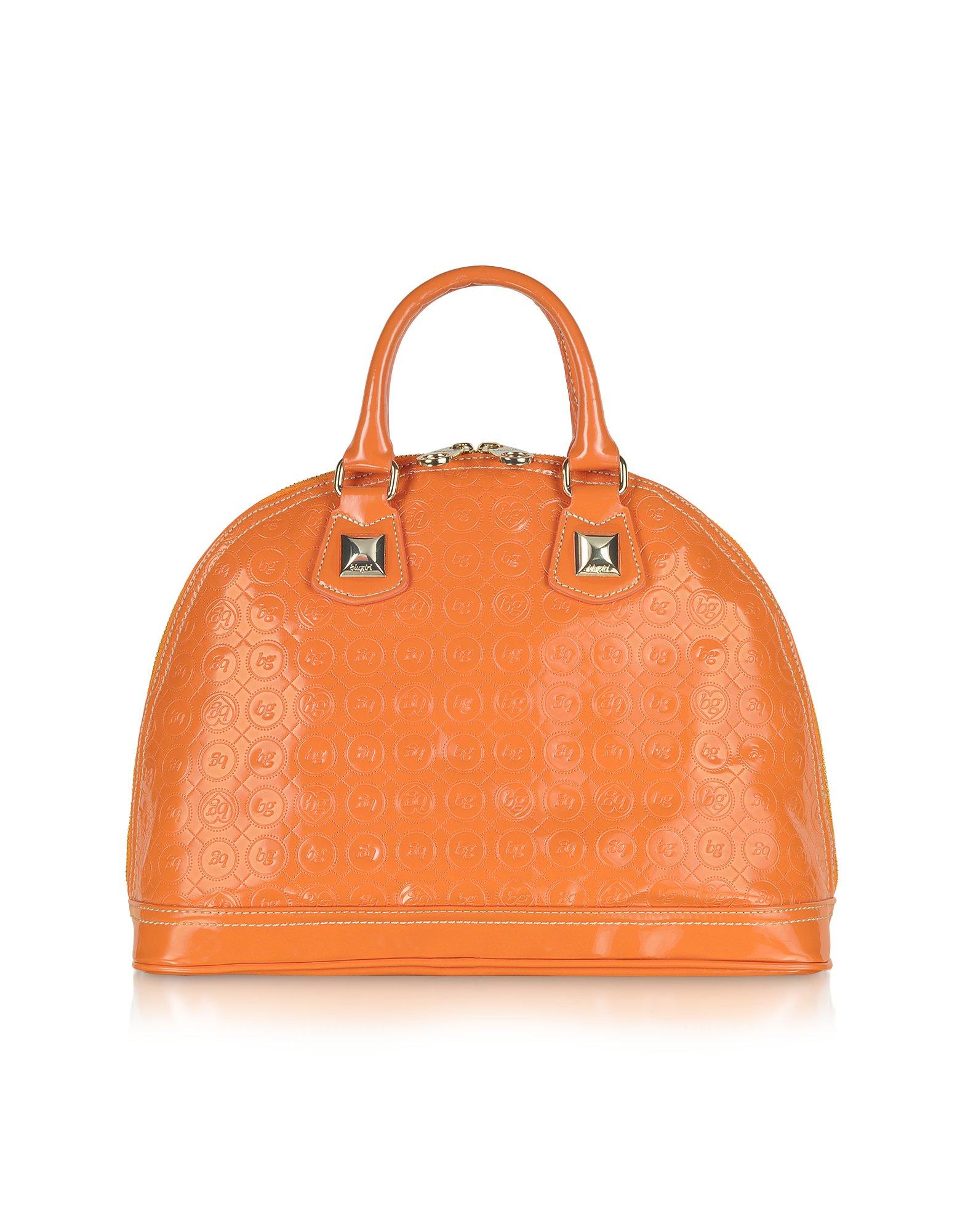 fdbbd563ff Lyst - Blugirl Blumarine Orange Patent Eco Leather Bowler Bag in Orange