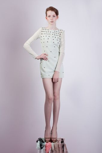 Charlotte Rouge Studded Dress - Lyst