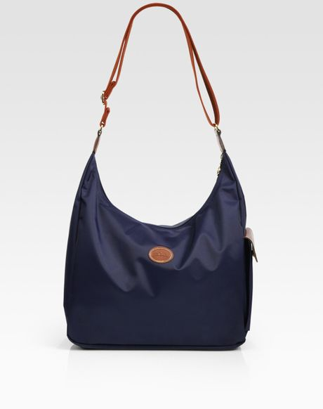 Longchamp Laukku Huutonet : Longchamp le pliage hobo bag in blue navy lyst