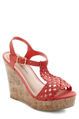 ModCloth Party On The Peninsula Wedge - Lyst