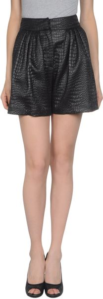 Msgm Shorts in Black - Lyst