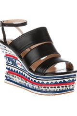 Opening Ceremony Pattern Wedge Sandal - Lyst