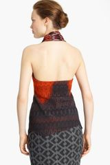 Missoni Knit Halter Top in Orange (red grey) - Lyst