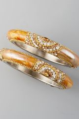 Chamak By Priya Kakkar Beaded Bangle Set - Lyst