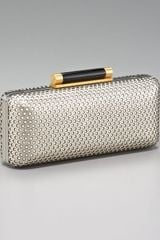Diane Von Furstenberg Tonda Perforated Leather Clutch - Lyst