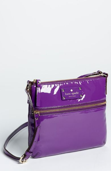 Kate Spade Flicker Tenley Patent Crossbody Bag in Purple (african ...