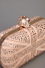 Alexander Mcqueen Skull Clutch Bag in Pink (rose) - Lyst