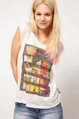 ASOS Collection Asos T Shirt with Photographic Roll - Lyst