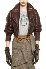 Burberry Prorsum Nappa Leather Bomber Jacket - Lyst