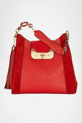 Diane Von Furstenberg Harper Hobo Bag in Red (red robin) - Lyst