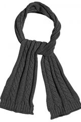 Dolce & Gabbana Viscose Wool Cable Knit Scarf in Gray for Men (anthracite) - Lyst