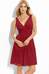 Donna Morgan Twist Silk Chiffon Dress - Lyst