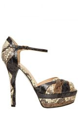 Ernesto Esposito 130mm Python Print Sandals in Multicolor (multi) - Lyst