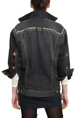 Etoile Isabel Marant Embroidered Cotton Denim Jacket - Lyst
