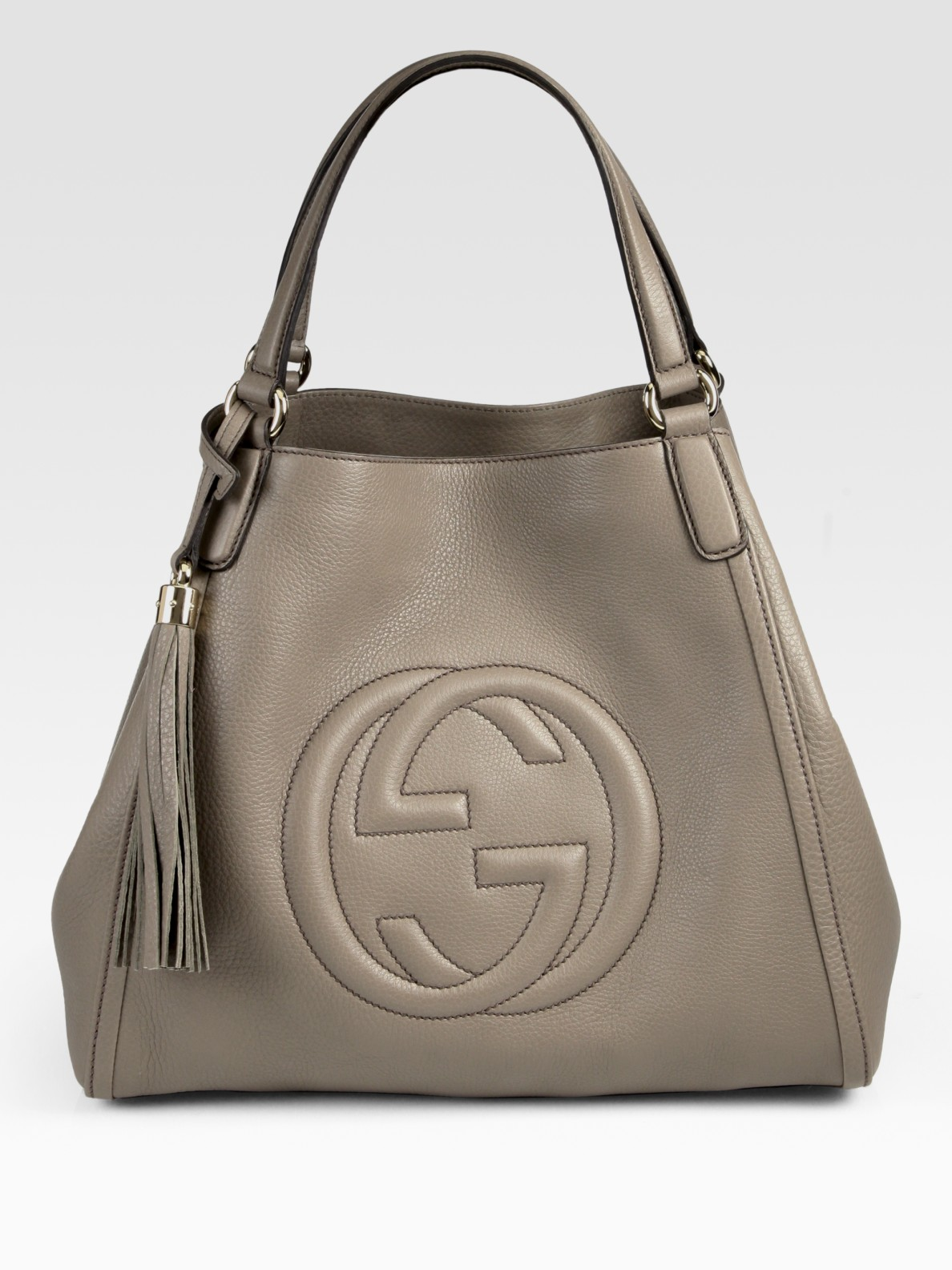 gucci soho medium shoulder bag in gray lyst. Black Bedroom Furniture Sets. Home Design Ideas