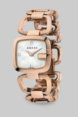 Gucci Daimond Accented Goldtone Physical Vapor Deposition Watch - Lyst
