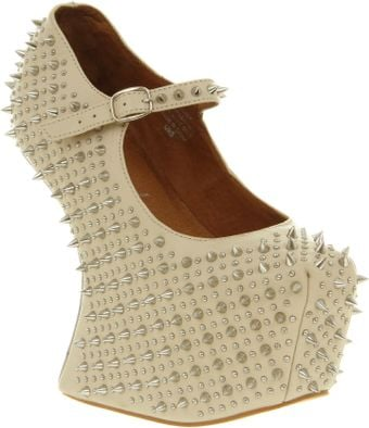Jeffrey Campbell Prickly Nude Calf Leather - Lyst