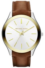 Michael by Michael Kors Michael Kors Slim Runway Leather Strap Watch - Lyst