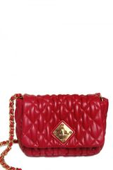 Moschino Quilted Nappa Shoulder Bag - Lyst