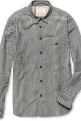 Rag & Bone Striped Cotton and Linen Blend Shirt - Lyst