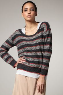 Splendid Fair Isle Knit Sweater - Lyst