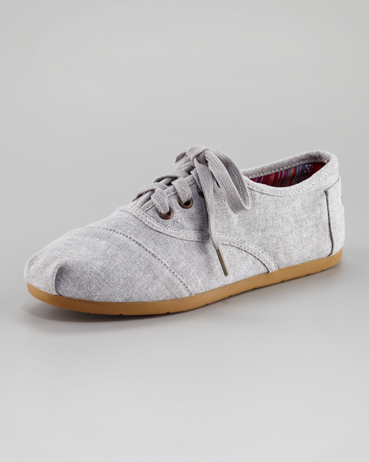 Toms Fabric Laceup Shoe In Gray (grey)