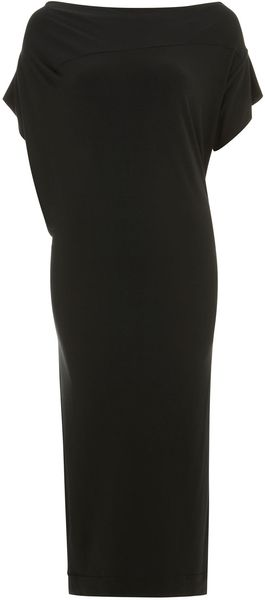 Vivienne Westwood Anglomania Black Boudicca Short Sleeve Midi Dress - Lyst