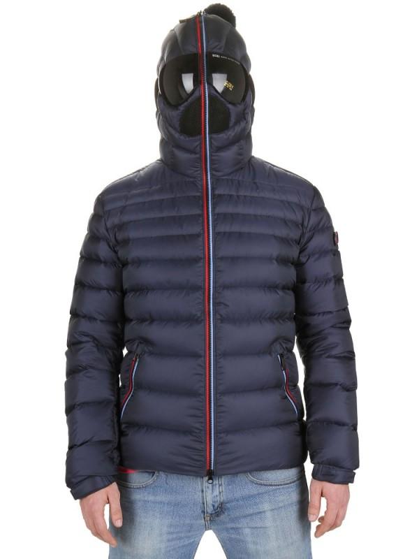 Nylon hooded down parka