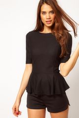 ASOS Collection Asos Top with 40s Peplum - Lyst