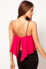ASOS Collection Asos Cropped Cami with Split Back - Lyst