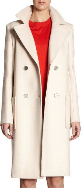 Balenciaga Corporate Coat in Beige (ivory) - Lyst