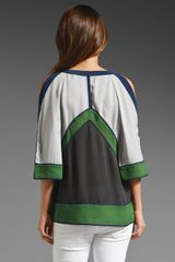 Bcbgmaxazria The Kesi Blouse in Green (haze) - Lyst