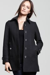 Burberry Brit Single Breasted Coat - Lyst