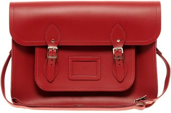 Cambridge Satchel Company Red Leather 11 Satchel - Lyst