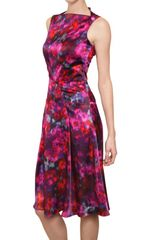 Erdem Printed Silk Satin Dress in Pink (multi) - Lyst