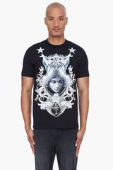 Givenchy Black Angel Crest Tshirt - Lyst