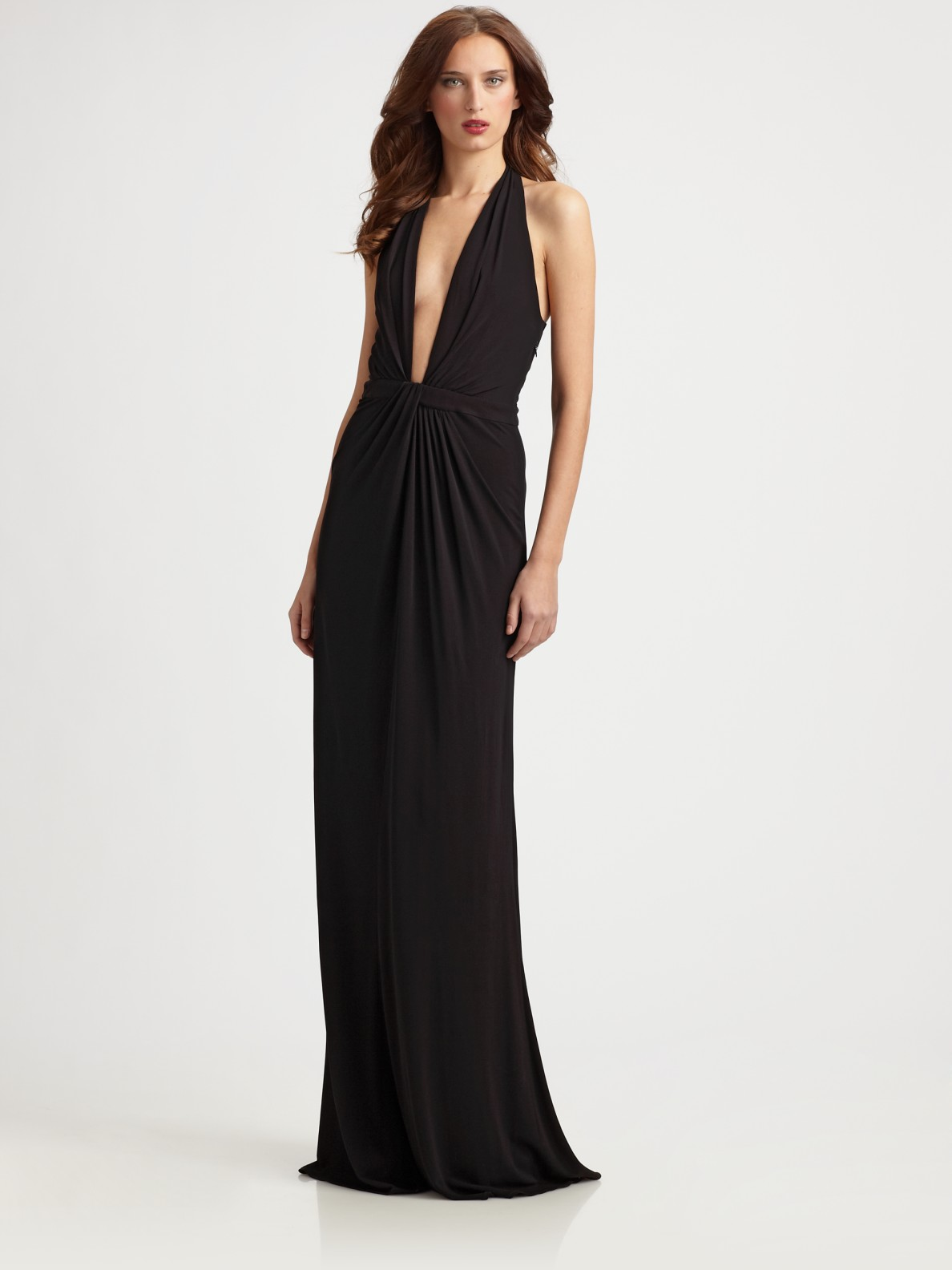 Lyst Issa Jersey Gown In Black