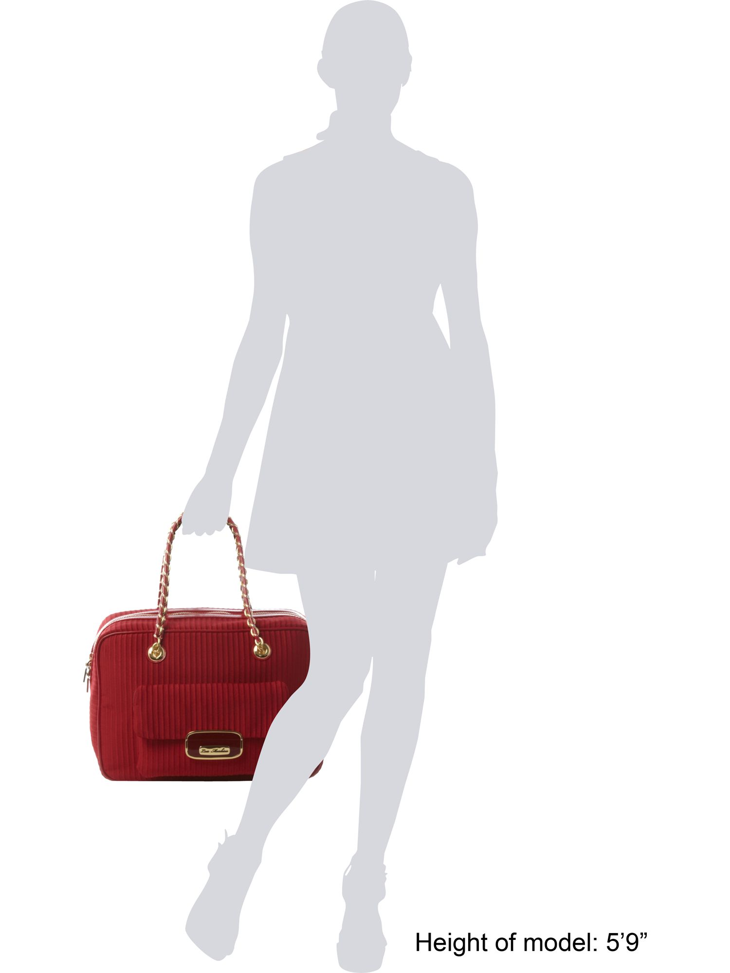 love moschino pleat bowling bag in red lyst. Black Bedroom Furniture Sets. Home Design Ideas