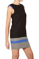 Space Stretch Wool Blend Dress - Lyst