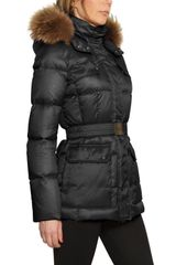 Add Fox Fur Hooded Nylon Down Jacket - Lyst