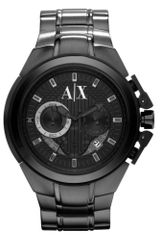 Armani Exchange  Chronograph Black Ion Plated Stainless Steel Bracelet  - Lyst